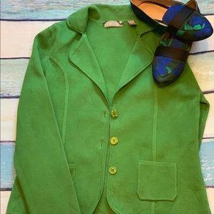 Green 3 button blazer